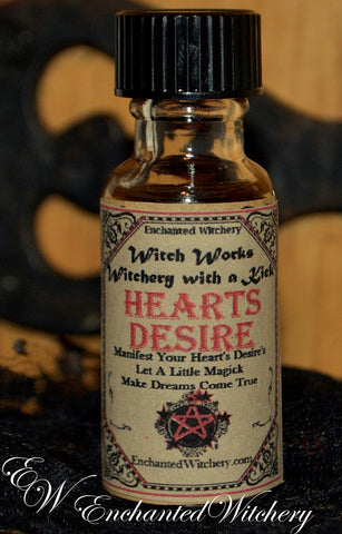 Heart's Desires  Witch Works Witchery Oil 1/2oz ~ Manifest Your Heart's Desires