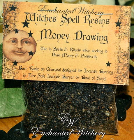 Money Drawing ~ Witches Spell Resin ~ Money Spells, Prosperity, Good Fortune