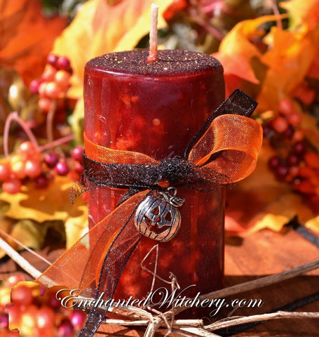 All Hallows Eve ~Enchanted Witchery Holidays of Witchery candle ~ for Abundance, Good Luck, Love & Positive Energy