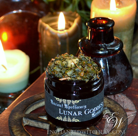 Ancient Apothecary Resin - LUNAR GODDESS -  For drawing down the energies of the moon in ritual spell workings