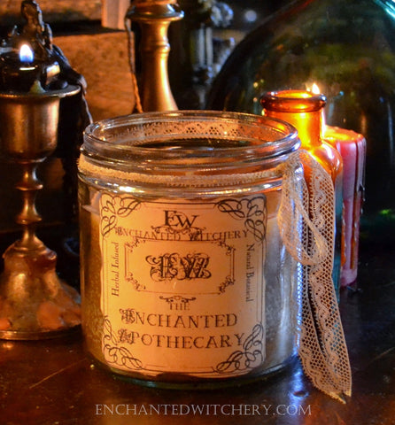 The Enchanted Apothecary - Candle of Herbal Essences for Herbal magick