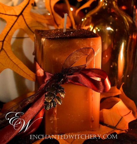 Autumn Whispers -  Old World Spellary Candle - warmed Baked Apple, hints of Chestnut & Cardamom