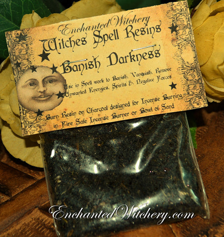 Banishing Darkness ~ Witches Spell Resin ~Banish, Vanquish, Remove