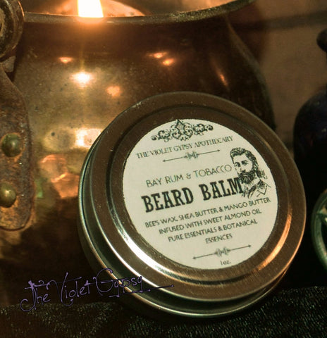 The Violet Gypsy All Natural Beard Balm - BAY RUM & TOBACCO