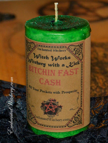 Bitchin Fast Cash ~ Fast Cash in the Pocket ~ Witch Works  Spell Candle