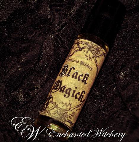 Black Magick Perfume ~ an intensely mystical scent with with top notes of Dragons Blood, Black Musk, Vetiver, & Sandalwood.