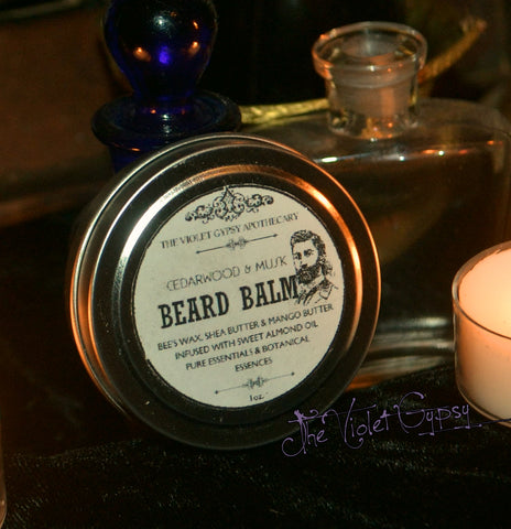 The Violet Gypsy All Natural Beard Balm - CEDARWOOD & MUSK