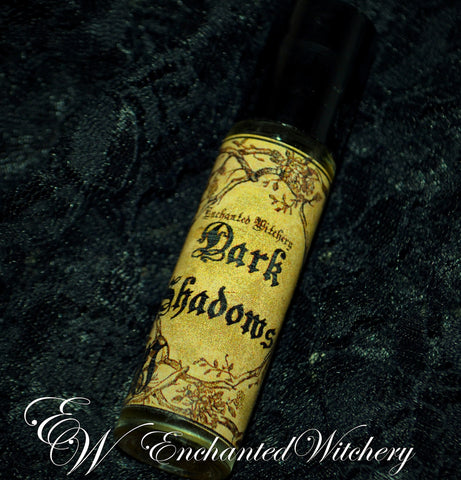 Dark Shadows Perfume ~ Dark Patchouli Black Musk, White Sandalwood & Tibetan Ginger. Ylang Ylang, Vetiver & Cardamom