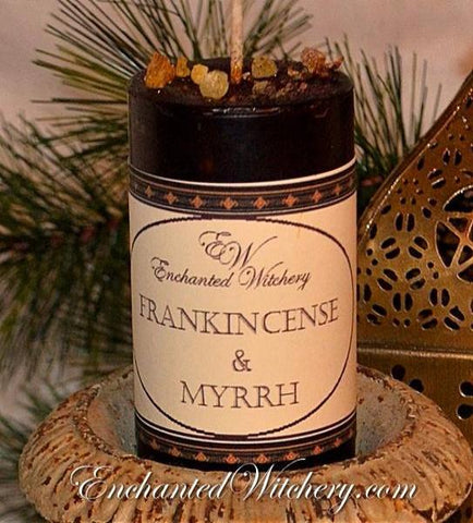 Frankincense & Myrrh Enchanted Witchery Candle - Spiritual, Divine Energies, Purification