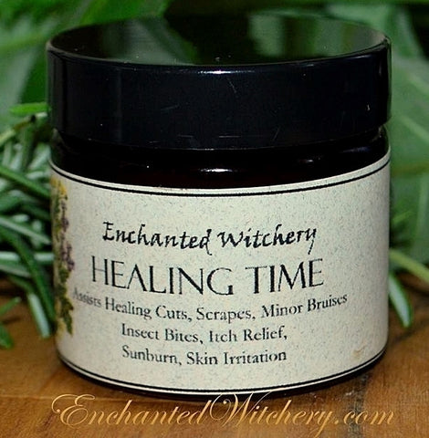 Healing Time Salve ~ for healing minor cuts, scrapes, bruises, insect bites, sunburn