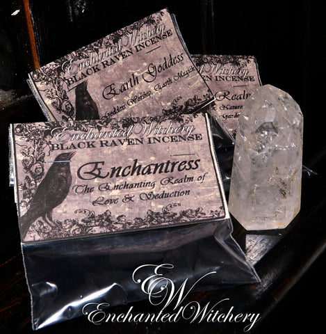 Black Raven Incense Cones ENCHANTRESS ~ Hand Dipped Incense Cones ~ Love & Seduction