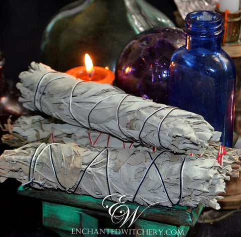 Jumbo California White Sage Smudge Wand - Cleasings, Purification, Banishing Negative Energies