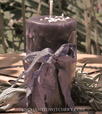 Organic Lavender - Enchanted Witchery Herbal Candle