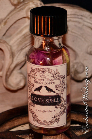 LOVE SPELL - Witchery Spell Oil - When seeking to Draw Love, Emotional & Self Love. Clearing the Heart