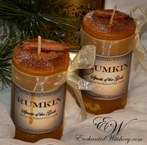 Rumkin - Spirit of the Gods - Holiday Witchery Candle - Hot Buttered Rum & Spice