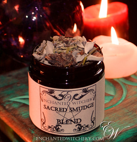 Sacred Smudge Blend - Cleanse, Clear, Purify, Consecrate with this spiritual blend of natural herbs & resins