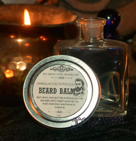 The Violet Gypsy  All Natural Beard Balm - SANDALWOOD PATCHOULI