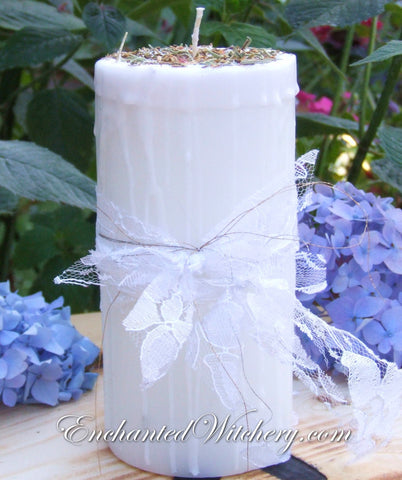 Pure White Magick - Old World Spellary Candle -
