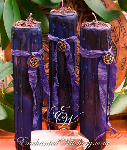 Witching Hour ~ Altar Illumination Candle 2x9 Pillar Mulberry & Sandalwood