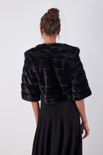 CASAQUETE CROPPED FUR CHINCHILA