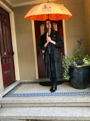 San Francisco Landmarks Umbrella Auto Open Premium Quality Black on Orange