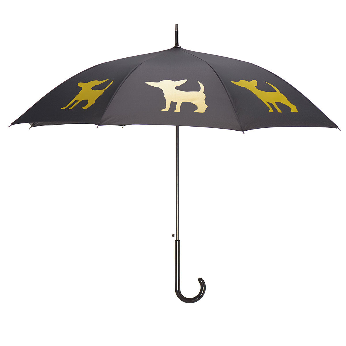 Chihuahua Umbrella Yellow on Black w/ sleeve and shoulder strap