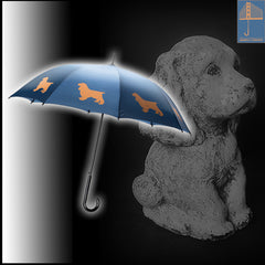 Cocker Spaniel Umbrella Auto Open Premium Quality Cocker on Navy Blue