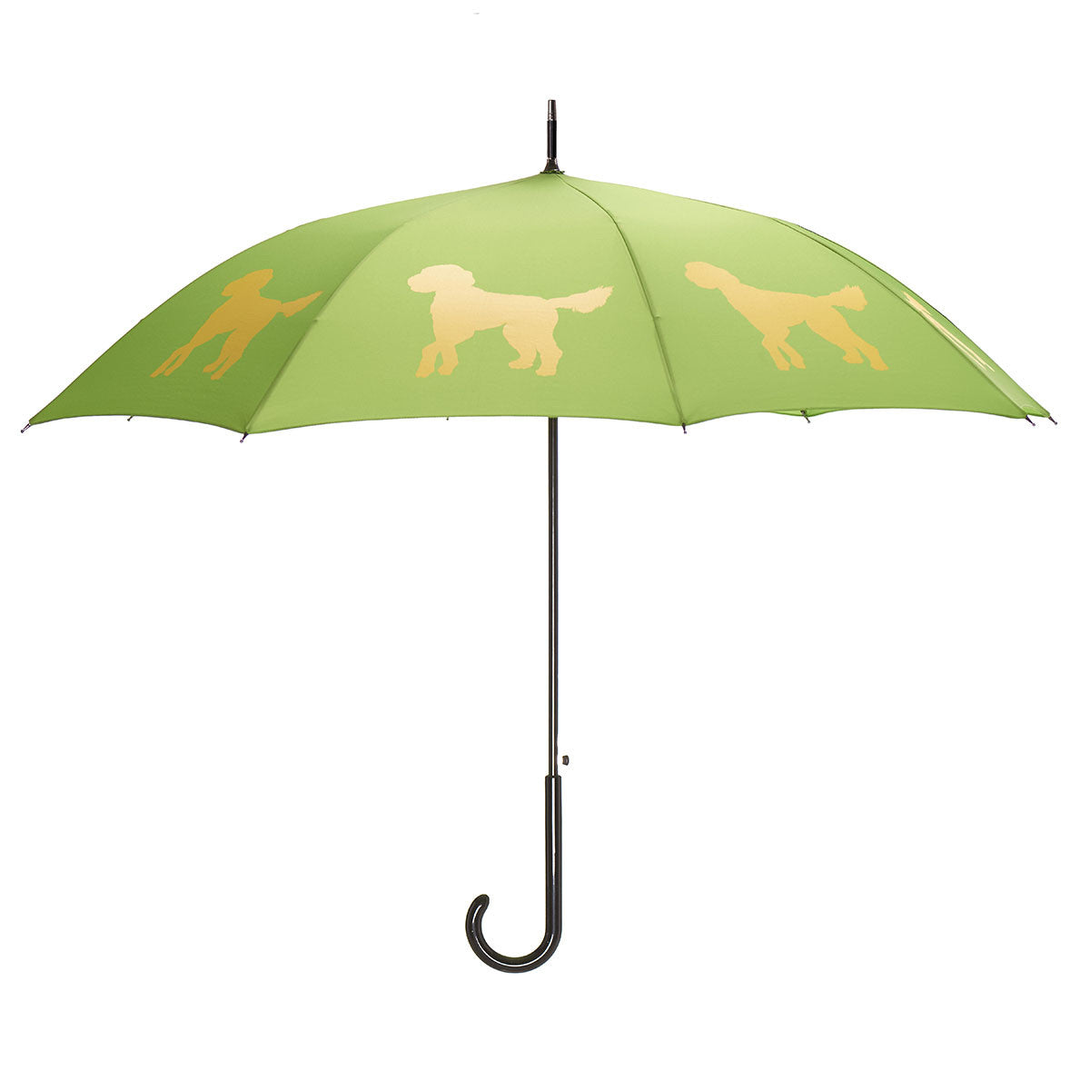 Doodle Umbrella Auto Open Premium Quality Yellow on Green w/ sleeve and shoulder strap