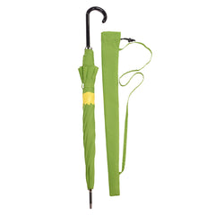 Doodle Umbrella Primrose Yellow on Greenery Green w/ sleeve and shoulder strap