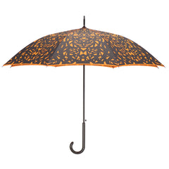 Web Design Design Black on Flame Red/Orange Umbrella w/ sleeve and shoulder strap