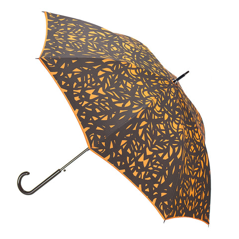 Web Design Umbrella Auto Open Premium Quality Black on Flame Red/Orange w/ sleeve and shoulder strap