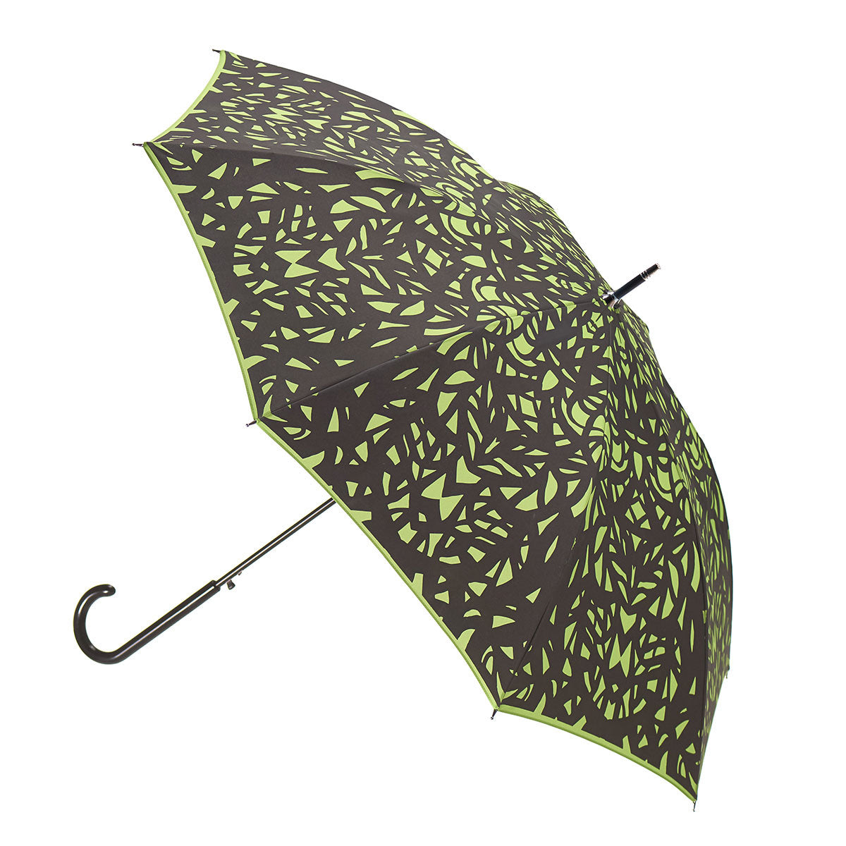 Butterfly Wing Design Black on Greenery Green Umbrella w/ sleeve and shoulder strap