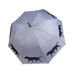 Labrador Retriever Stick Umbrella Auto Open Premium Quality Black on Silver