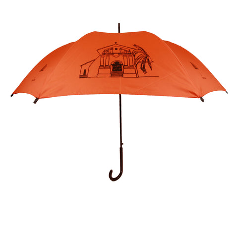 San Francisco Landmarks Umbrella Black on Orange