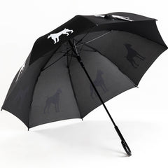 Boxer Umbrella White on Black Auto Open Premium Quality