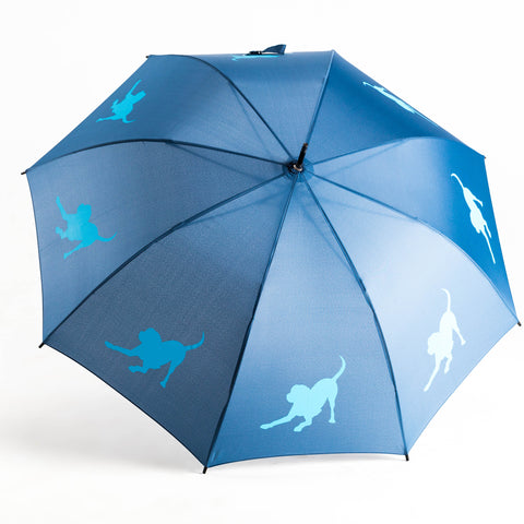 Labrador Retriever Umbrella Auto Open Premium Quality Royal Blue on Navy Blue