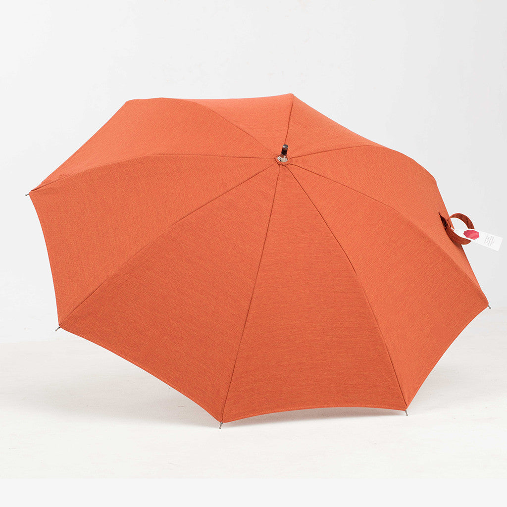 Sun Protection (small) Umbrella (Brick Orange) featuring Sunbrella™ Fabric w/ sleeve and shoulder strap