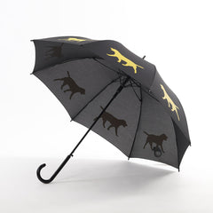 Labrador Retriever Umbrella Auto Open Premium Quality Yellow on Black