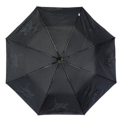 "Cat 12"" Collapsible Auto Open and Close Premium Umbrella White on Black"