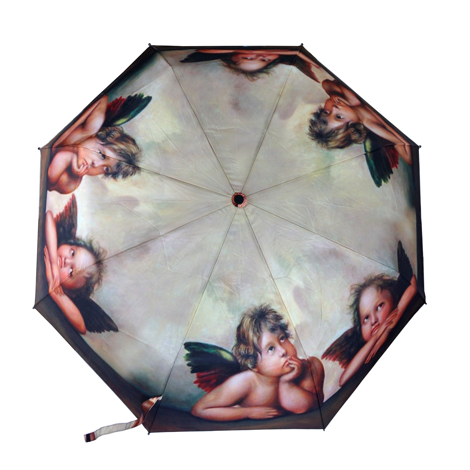 "Raphael's Angels 12"" Compact Collapsible Auto Open/Close Umbrella Premium Quality"