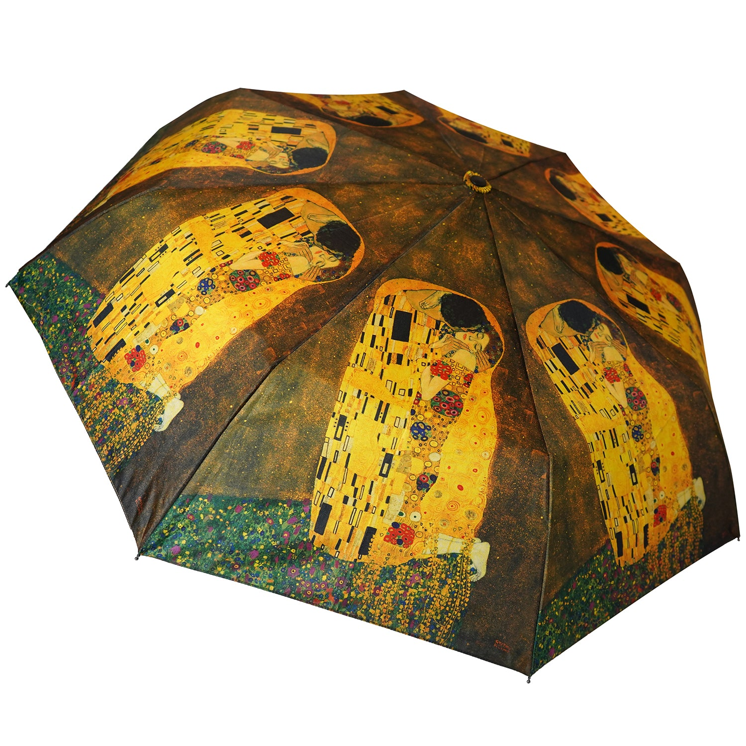 "Klimt The Kiss 12"" Mini Auto Open and Close Umbrella"