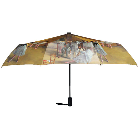 "Degas Ballerinas 12"" Mini Auto Open and Close Premium Umbrella"