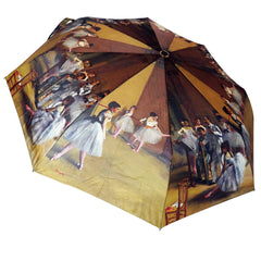 "Degas Ballerinas 12"" Collapsible Auto Open and Close Premium Umbrella"