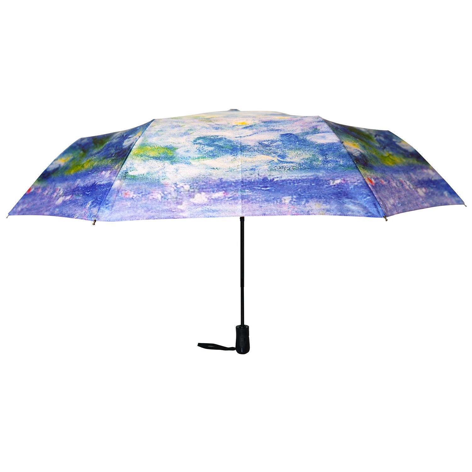 "Monet's Waterlilies 12"" Mini Auto Open and Close Premium Umbrella"