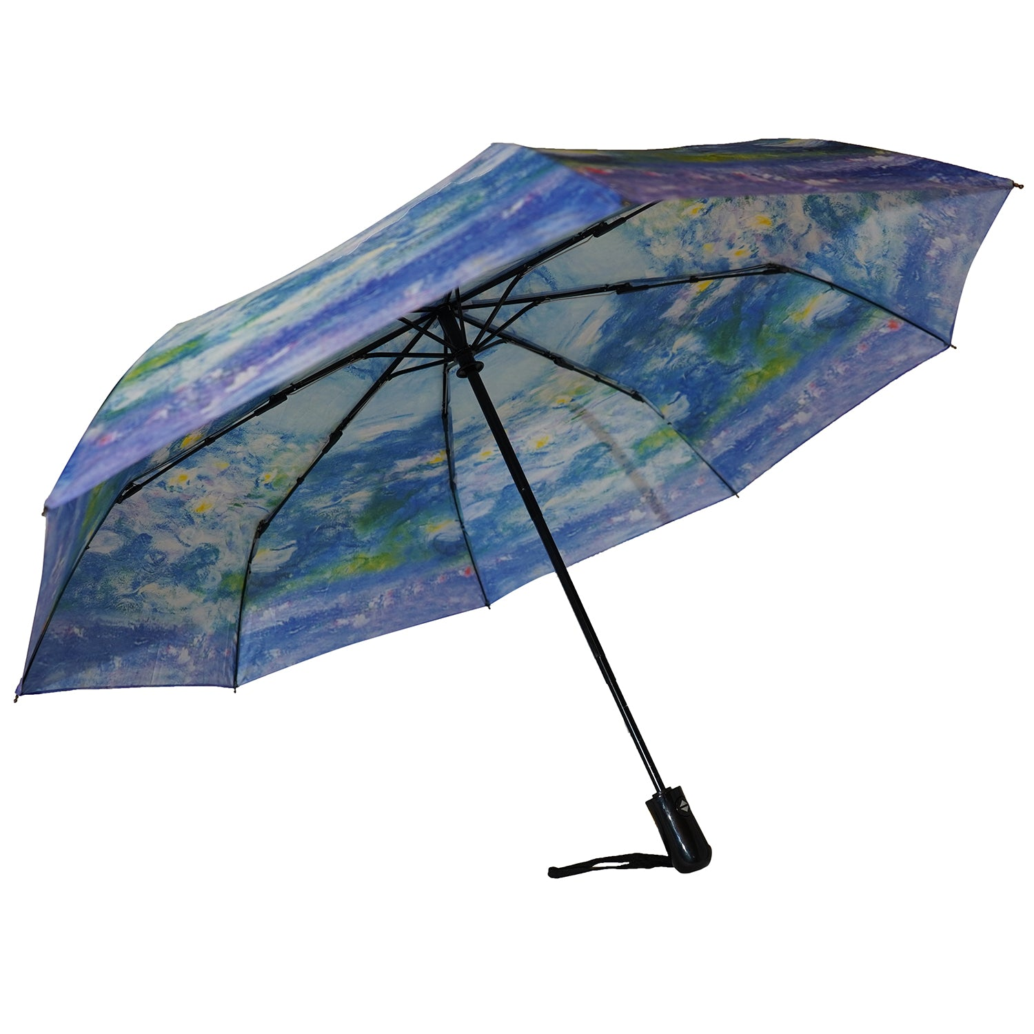 "Monet's Waterlilies 12"" Mini Auto Open and Close Umbrella"