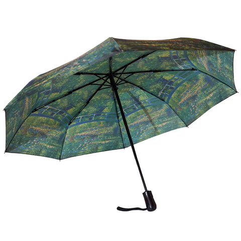 "Monet's Garden at Giverny 12"" Mini  Auto Open and Close Premium Umbrella"