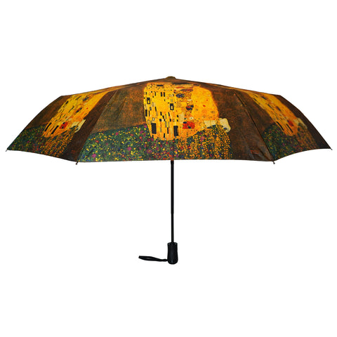 "Klimt The Kiss 12"" Compact Collapsible Auto Open and Close Premium Umbrella"