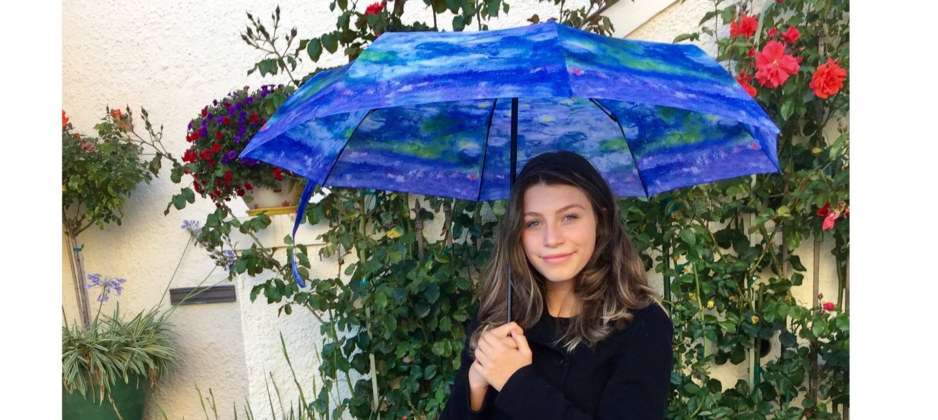 Monet Waterlilies Umbrella