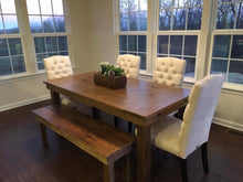Load image into Gallery viewer, Farmhouse Dining Table with Post Legs