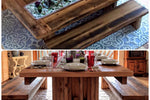 This farmhouse pedestal table is hand crafted using reclaimed barn wood, reclaimed hard wood, and/or rough cut non-reclaimed wood. Wooden Whale Workshop Custom Woodwork, Butler, PA ready to ship and custom woodwork.Unique and beautiful. Great prices.